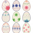 Vintage easter eggs — Stock Vector #50712617