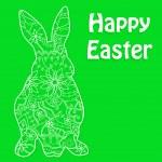 Happy Easter green — Stock Vector #50713011