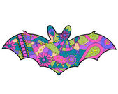 Colorful bat — Stock Vector
