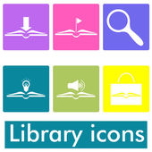 Library icons — Stock Vector