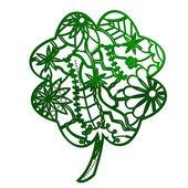 Clover green outline — Stock Vector