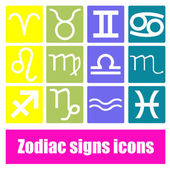 Zodiac signs icons — Stock Vector