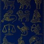 Golden zodiac signs — Stock Vector #50855067