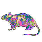 Rat colorful — Stock Vector