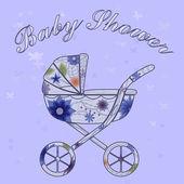 Baby sprcha karty — Stock vektor