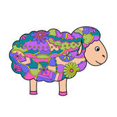 Colorful sheep — Stock vektor