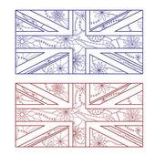 UK flag otlines — Stock Vector
