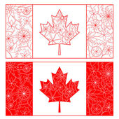 Outline of Canada flag — Stock Vector