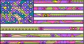 Colorful Usa flag — Stock Vector