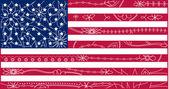 USA flag outline 2 — Stock Vector