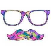 Glasses amd mustache — Stock Vector