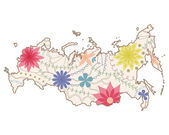 Russian painted map — Stock Vector