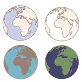 Earth in vintage colors — Stock Vector
