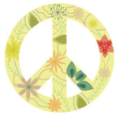 Vintage peace sign — Stock Vector