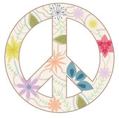 Peace sign vintage — Stock Vector