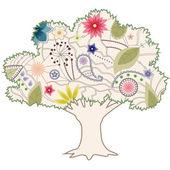 Vintage tree — Stock Vector