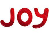 Glass signboard JOY — Stock Vector