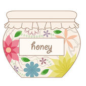 Vintage honey jar — Stock Vector