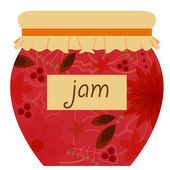 Jam jar retro — Stock Vector