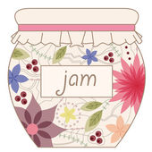 Jam jar vinatage — Stock Vector