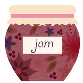 Vintage jam jar — Stock Vector