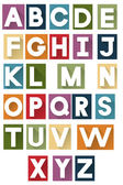 Colorful retro alphabet — Stock Vector