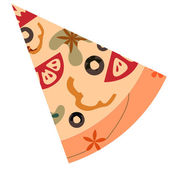 Slice of pizza — Stock Vector