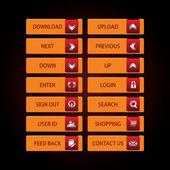 Web buttons Theme — Stock Vector