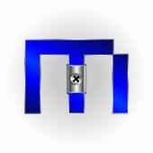 Blue metallic fonts — Stock Vector