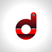 Red shiny alphabet — Stock Vector