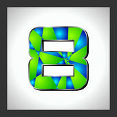 绿色字母和数字 — 图库矢量图片