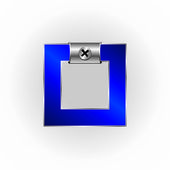 Синий металлик шрифты — Cтоковый вектор