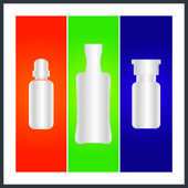 Bottle and packaging — 图库矢量图片