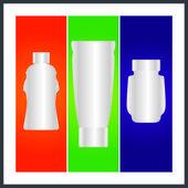 Flacon et l'emballage — Vecteur