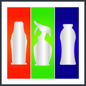 Bottle and packaging — Stock Vector