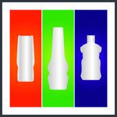 ボトル、包装 — ストックベクタ