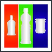 瓶子和包装 — 图库矢量图片