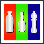 Butelki i opakowania — Wektor stockowy