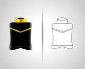 Bottiglia e confezione — Vettoriale Stock