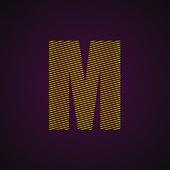 Embroidery Typography — Stock vektor