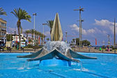 Netanya. Fountain at the city square — Stock Photo