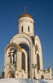 Iglesia de san jorge en la colina poklonnaya — Foto de Stock