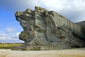 Monument at the Ajimushkay stone quarries — Stock Photo