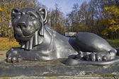 Vlakhernskoe-Kuzminki. Lion at Lions pier — Stock Photo