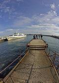 In Yalta port — Stock Photo