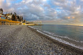 Plage de massandra à yalta — Photo