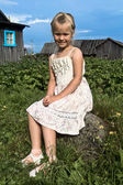 Smiling rural girl — Stock Photo