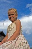 Pretty smiling girl — Stock Photo