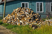 Heap of firewoods — Stock Photo