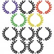 Olympic laurel wreaths — Stock Vector